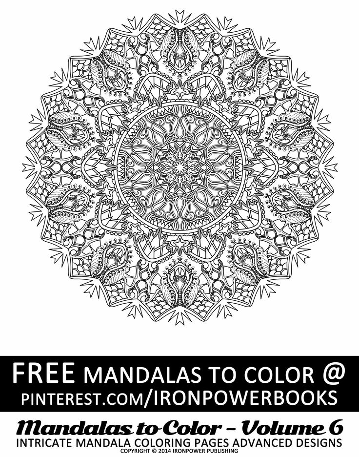 FREE Intricate Advanced Mandala Design From