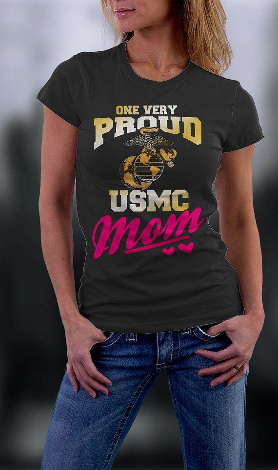 Us Marine Mom Tshirt, Proud Usmc Mom, Us Marines Corps Mom Shirt, Birthday Gift