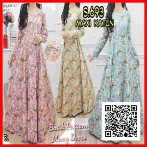 Baju Maxi Long Dress Bahan Katun Murah
