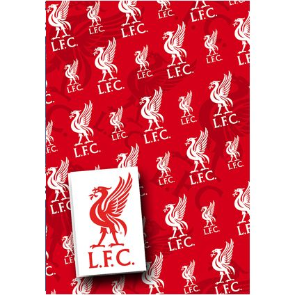 Liverpool FC Gift Wrapping Sheets and 2 Gift Tags available from Publishers with Free UK Delivery at https://www.danilo.com/Shop/Cards-and-Wrap/Gift-Wrap-and-Tags