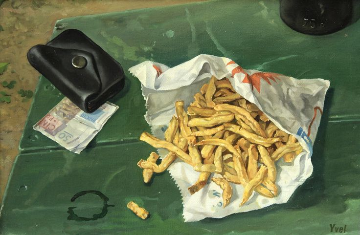 https://flic.kr/p/QqEkys | Claude Yvel - Frites [c.1959] | Born Paris, August 16, 1930, Claude Yvel is a french painter.   [Leighton Fine Art, Flackwell Heath - Oil on canvas, 35.6 x 25.4 cm]