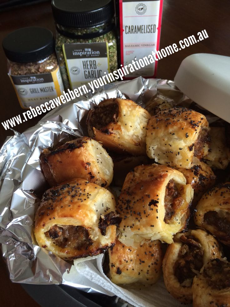 Yummy sausage rolls using YIAH -your inspiration at home products www.rebeccawebbern.yourinspirationathome.com.au
