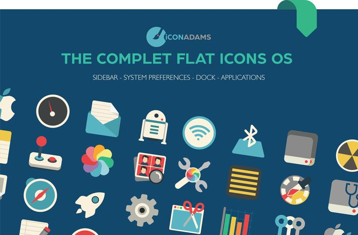 Iconadams has a range of icons with the perfect solution to create a fast, clean and organised desktop with a modern and pleasant design. These flat design icons are completely integrated in the last OS .
