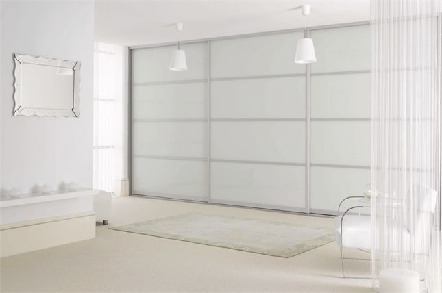 White Glass #sliderobes http://www.sliderobes.com/sliding-wardrobe/category/Bedrooms/Oriental-Collection/white-glass-and-silver