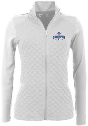 Antigua Chicago Cubs Womens White Gossamer Light Weight Jacket