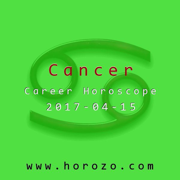 Cancer Career horoscope for 2017-04-15: Don't hesitate to clean where cleaning's due. That pile of clutter around your desk isn't going to organize itself. Spend your downtime today straightening up a little; you'll feel relieved when you can find what you're looking for..cancer