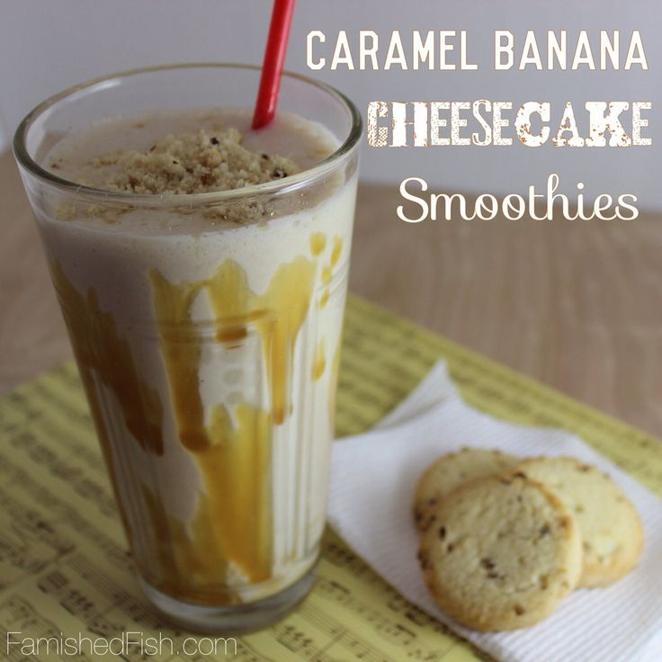 Caramel Banana Cheesecake Smoothies - #15MinuteSuppers