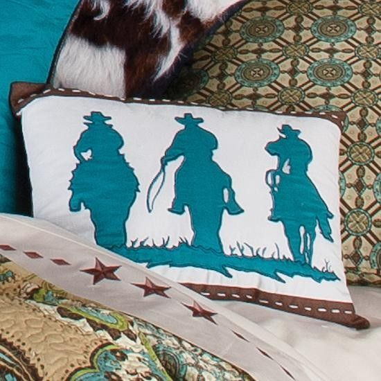 Cowboy Paisley 12X16 Three Cowboys Accent Pillow