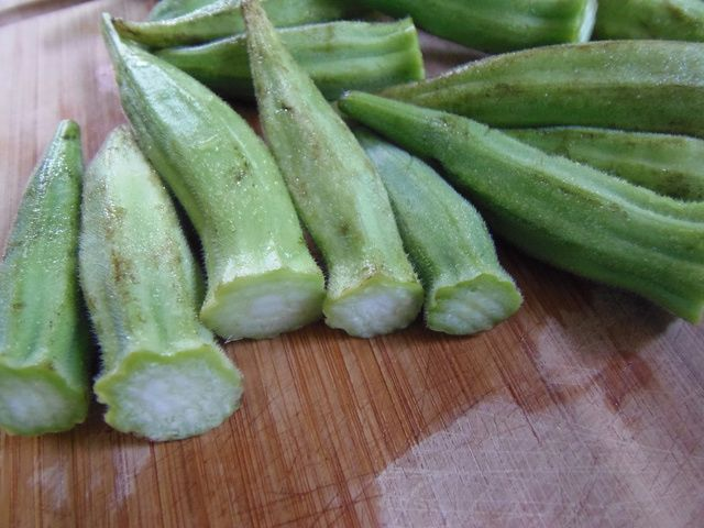 The Best Way to Freeze Okra: Wash and Stem the Okra