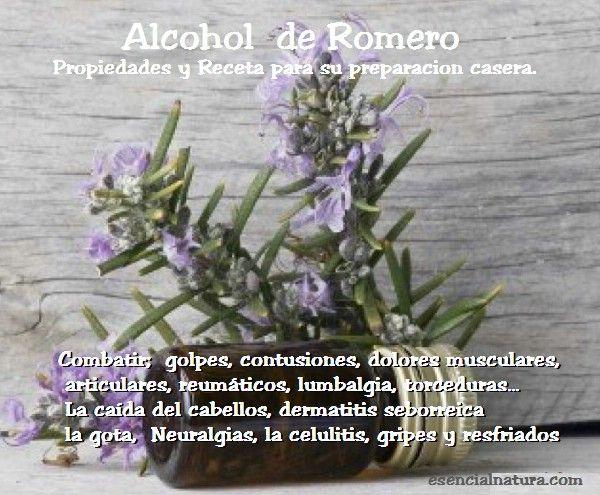 Fitoterapia: Alcohol de Romero propiedades y preparación casera