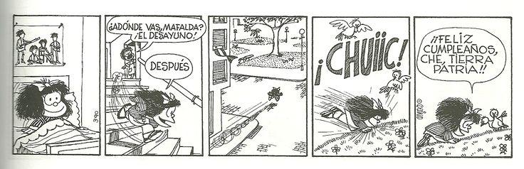 """¿Por qué el 25 de mayo fue día feriado en la Argentina? """"Mafalda""""; artista: Quino"""