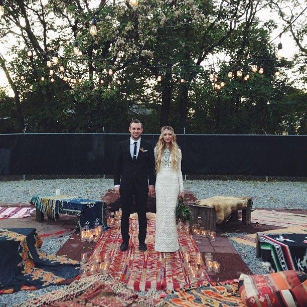 Bohemian Wedding Reception: Boho Bride. Bohemian Wedding. Imogene And Willie