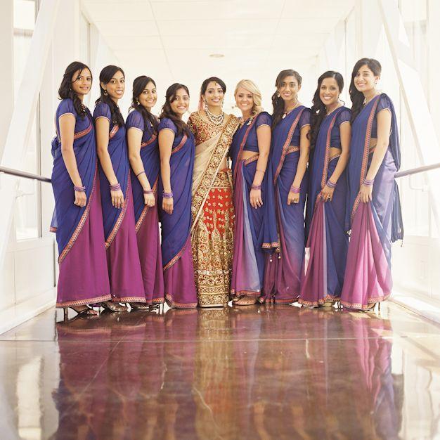 Atlanta Hindu Wedding Bridesmaids