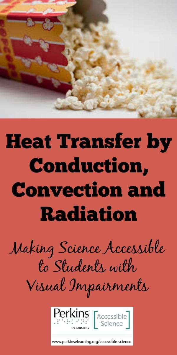 Accessible science activity to teach students with visual impairments about heat transfer by conduction, convection and radiation