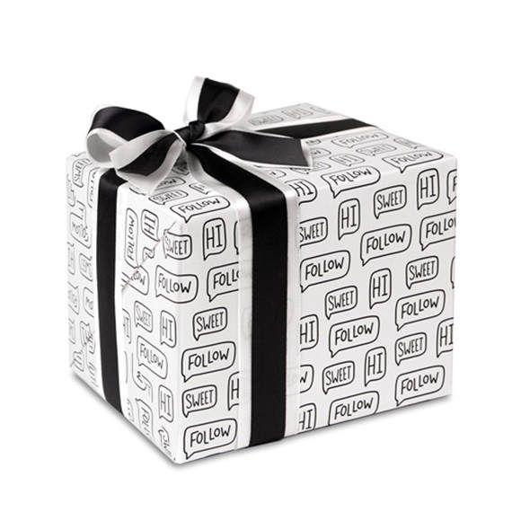 5 x Wrapping paper sheets / Modern Pattern / Speech balloon /