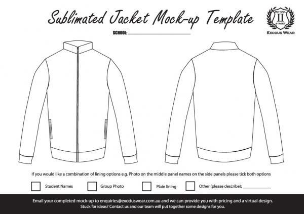 Exodus Wear Jacket Design Template