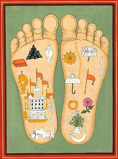 Srimati Radharani's Lotus Feet Symbols
