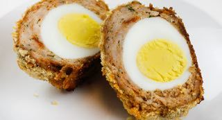Scotch Eggs: Bring a gastropub favorite home andndash; with homemade Scotch Eggs! Leftover hard-boiled eggs are the star of this savory British breakfast, blanketed in a crave-able coating of ground pork, seasonings and panko bread crumbs. Our version gets baked (instead of fried) until crisp.