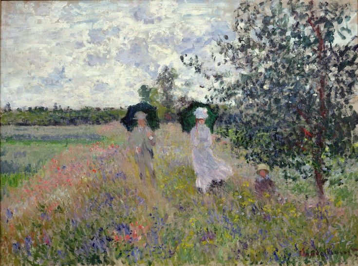 Masterpiece of Art: Claude Monet | Promenade près d'Argenteuil, 1875