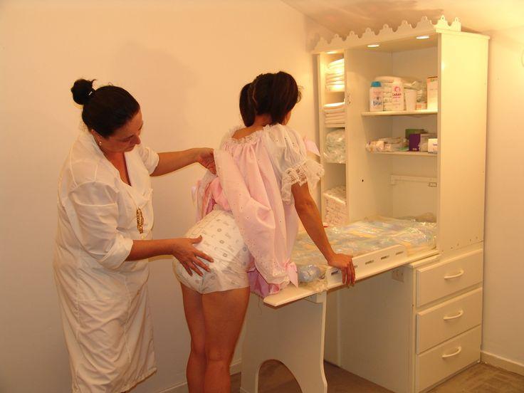 Diaper spanking position tgp