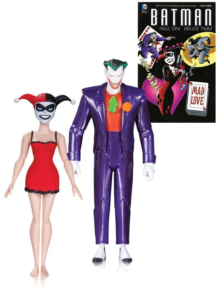 Batman The Animated Series Action Figure 2-Pack The Joker & Harley Quinn Mad Love 2nd Ed.