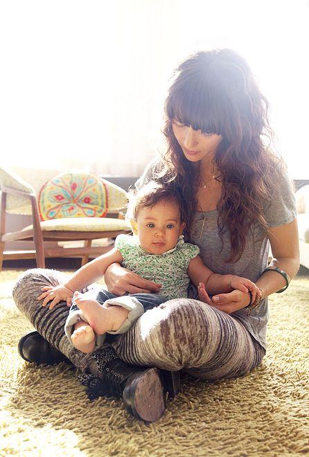 zoe buckman with daughter cleo