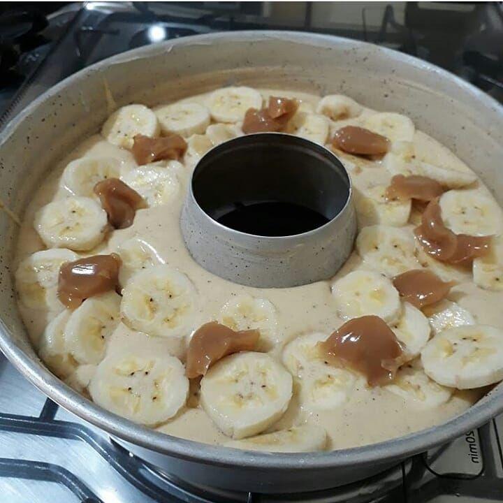 Bolo De Banana Com Doce De Leite Ingredientes 3 Ovos 2 Xicaras