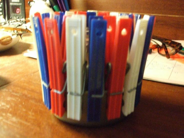 Unique Decorative Clothespin Holder for candles, flowers or scouring pads