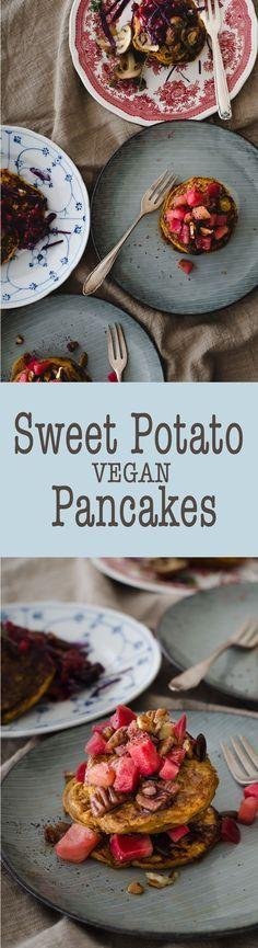 Sweet Potato Pancakes - Vegan breakfast recipe