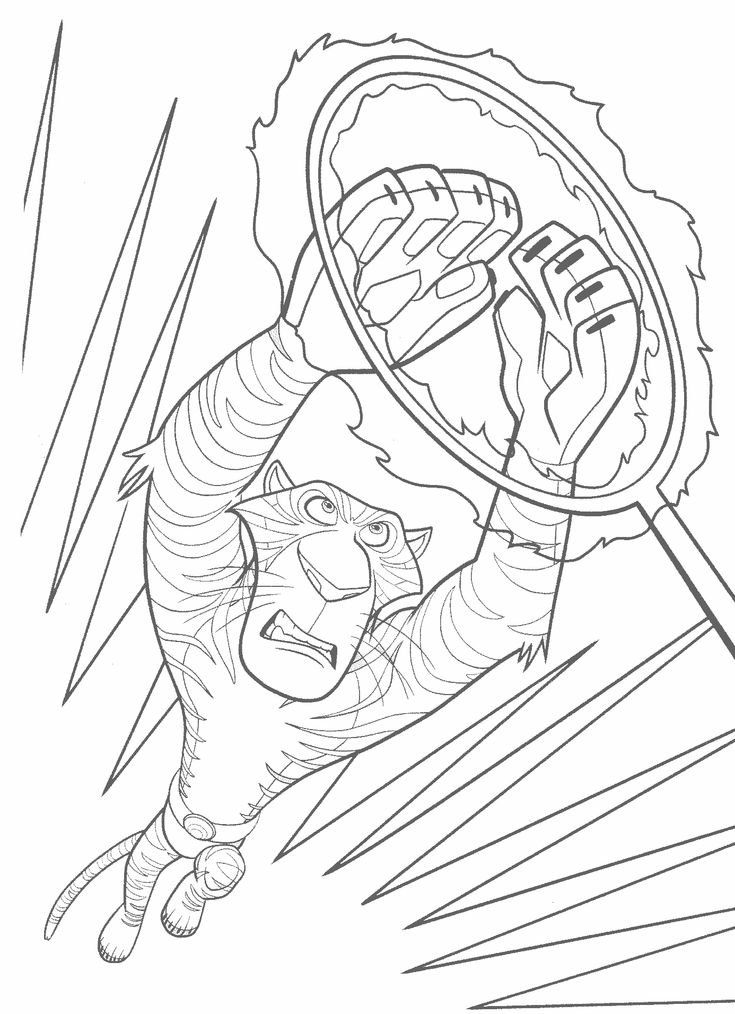 madagascar 3 circus coloring pages - photo#1
