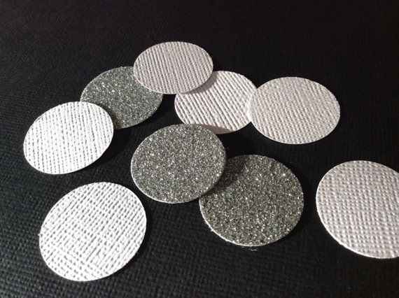 White and silver glitter confetti. White & by SnowflakeDesigns2015