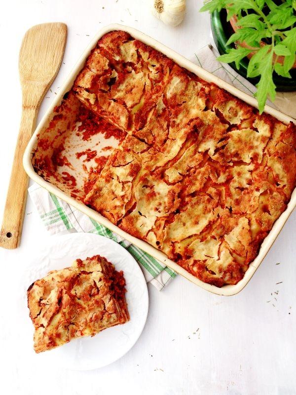 lasagnes véganes au tofu rosso