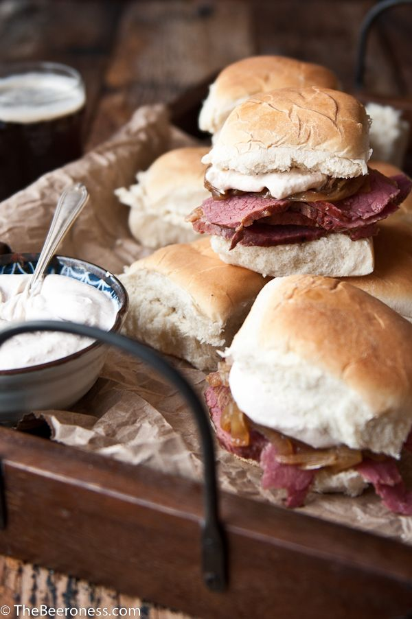 Slow Cooker Beer Brisket Sandwiches with Horseradish Sour Cream Recipe