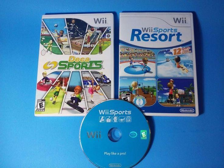 Wii Sports Resort, Wii Sports, & Deca Sports (Nintendo Wii