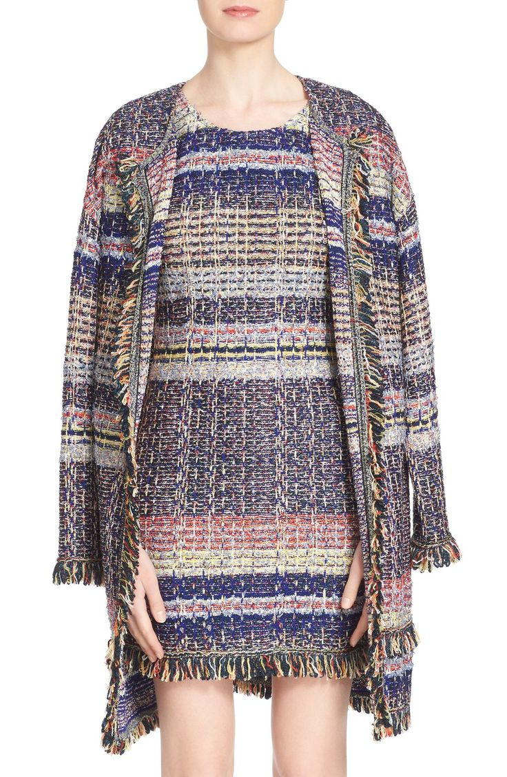 'Ellah' Fringe Trim Knit Topper
