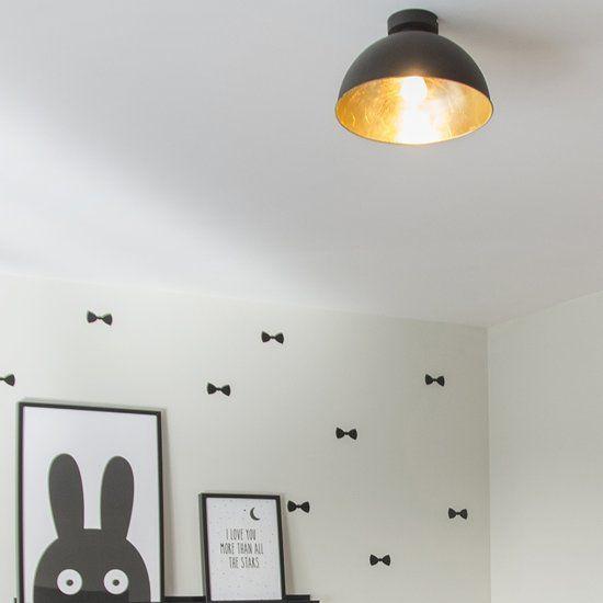 Trio Leuchten Magna Eco - Plafondlamp - 1 lichts - Ø 310 mm - zwart