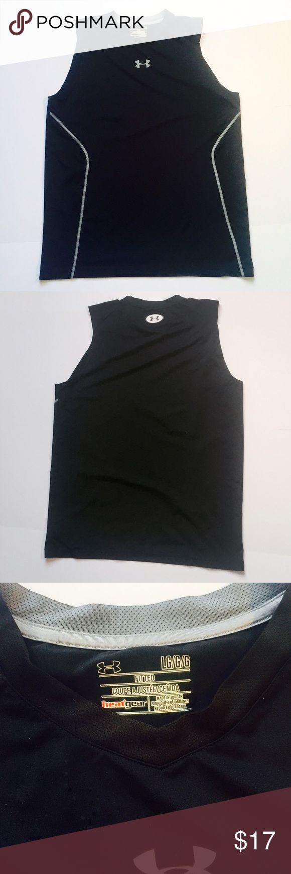 Men's Under Armour workout tank Heat Gear series, very light microfiber, in great condition! Under Armour Shirts Tank Tops