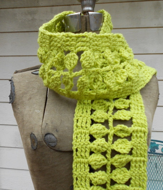 Leaf Scarf Neon Green Spring Fling by electricbluebird on Etsy, $35.00: Crochet Scarves Shawls, Crochet Scarves Patterns, Green, Crocheted Scarf Patterns, Crochet Patterns Scarf, Spring, Crochet Scarfs, Scarf Patterns Crochet, Pretty Crochet Scarf Pattern