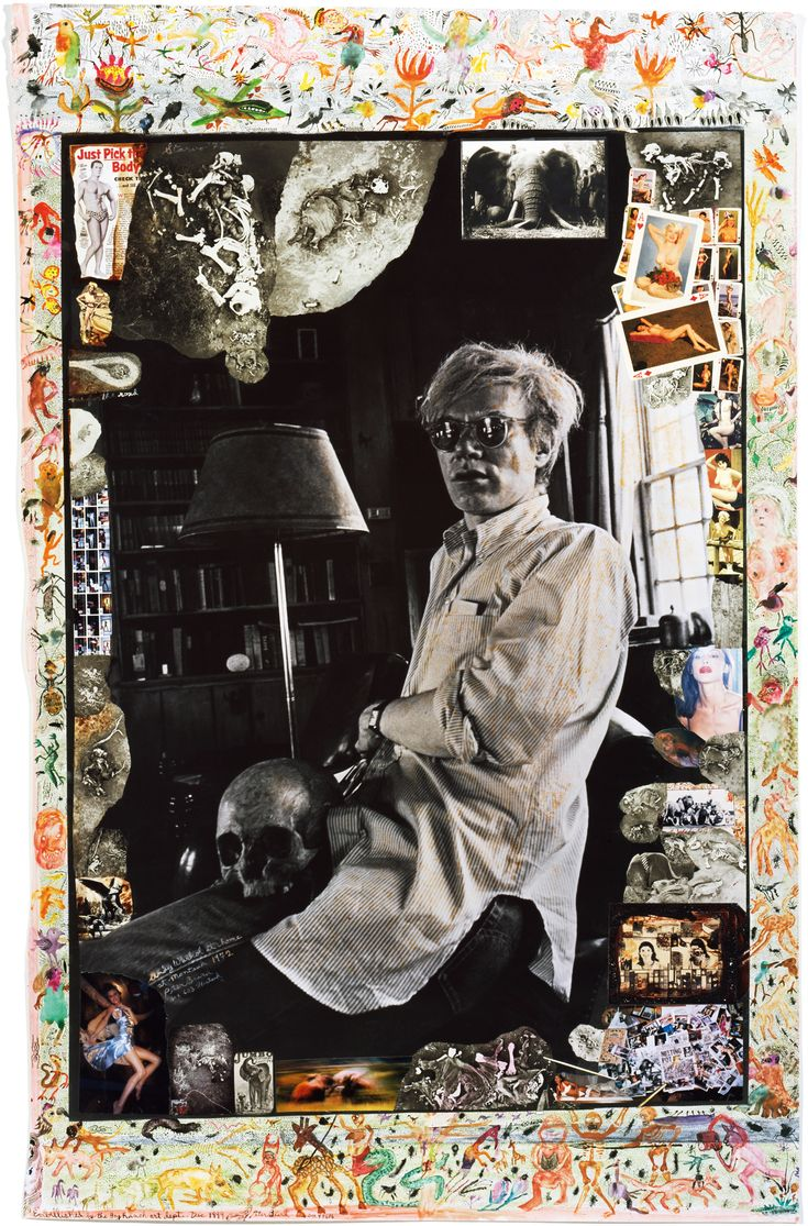 Andy Warhol at home, 1972/1999 Photo - PETER BEARD