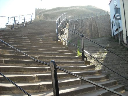The 199 Steps, leading to St Mary's Church and Whitby Abbey