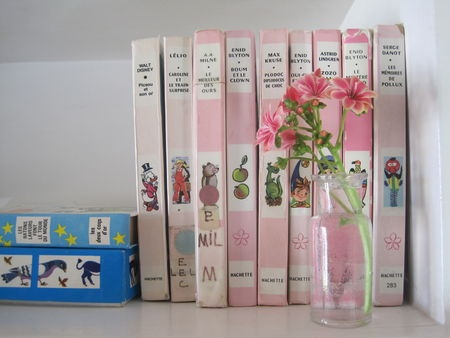 Bibliothèque rose et verte ... une passion !