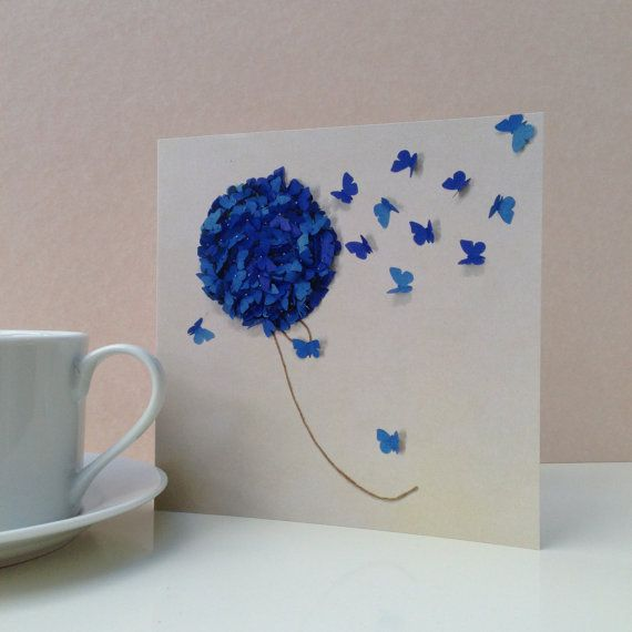 This beautiful Blue Hydrangea Card looks like it is going to bloom and flyaway with mom's heart.