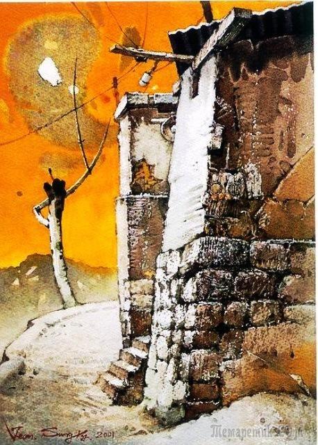 Корейская живопись. Чон Сон Ки – Jeon Sung Ki (전성기). Республика Корея. Акварель