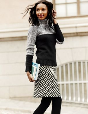 Cute sweater. I ordered this skirt - I wonder if I'd like it with the sweater?