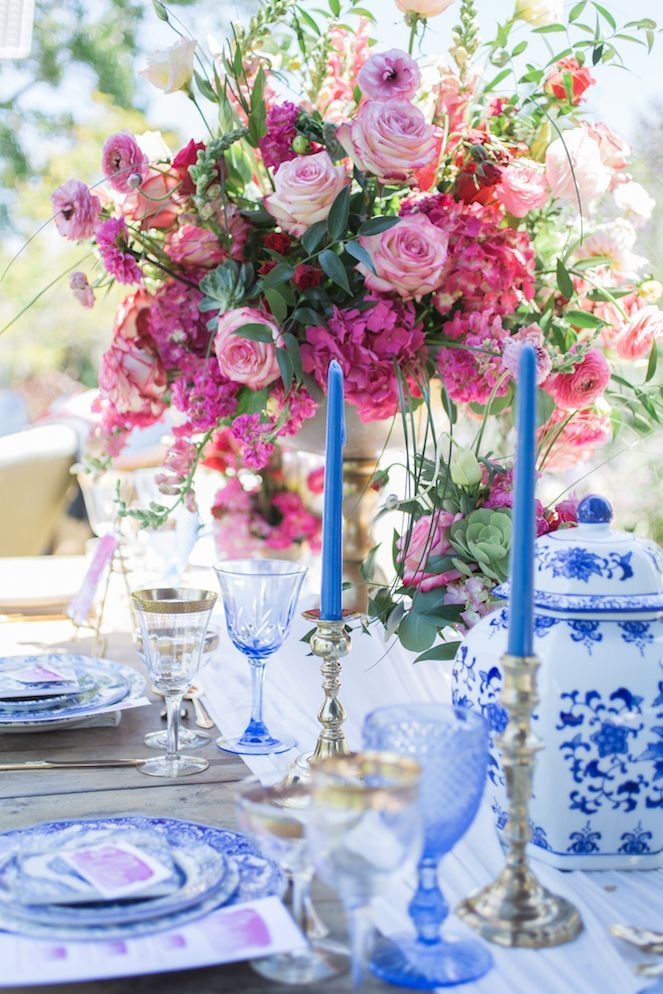SoCal Wedding Shoot Infused with French-Inspired Elements table decor