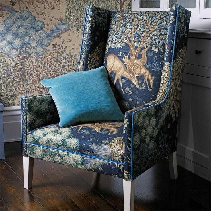Style Library - The Premier Destination for Stylish and Quality British Design | Products | The Brook Fabric (DMCR226468) | The Craftsman Fabrics | By Morris & Co.