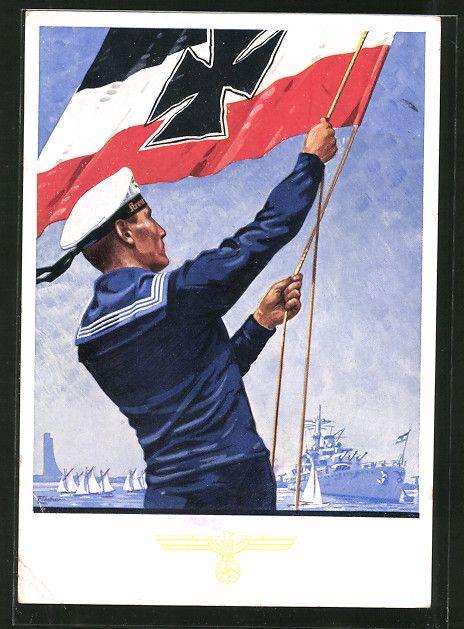 old postcard k nstler ak kiel marine volkswoche 1935