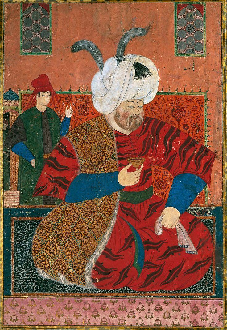 Portrait Of Sultan Selim II - Nurbanu Sultan - Vikipedi-Nûr-Banû Valide Sultan'ın eşi Sultan II. Selim (1524-1574)