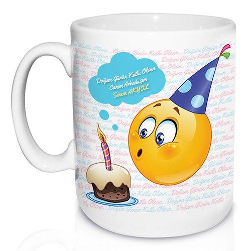 Doğum Gününe Özel Emoji Kupa Bardak