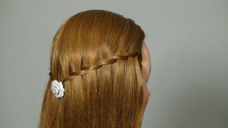 Легкая прическа. Французский водопад. Waterfall twist hairstyle